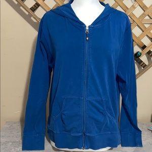 Nike ACG Blue ZipUp Hoodie Ruffled Pockets XL